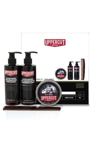 UPPERCUT DELUXE HAIR PRODUCT UPPERCUT DELUXE 'MATTE POMADE COMBO KIT'