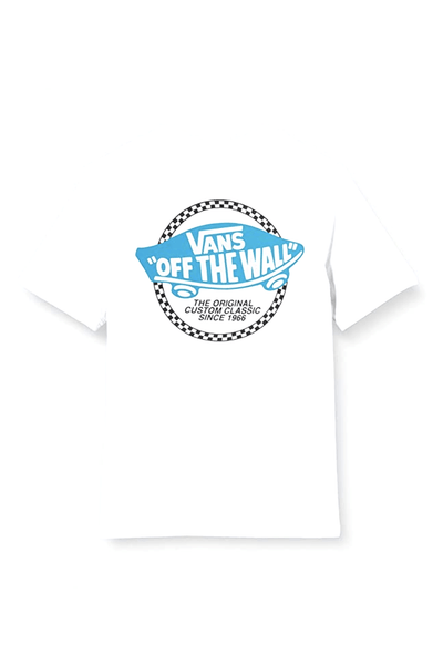 VANS BOYS TEES VANS CHECKER OTW BOYS TEE - WHITE