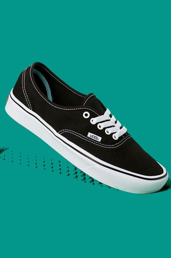 VANS FOOTWEAR MENS 4/LADIES 5.5 VANS AUTHENTIC COMFYCUSH - BLACK/ TRUE WHITE