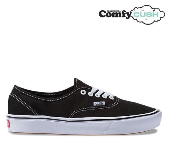 VANS AUTHENTIC COMFYCUSH - BLACK/ TRUE WHITE