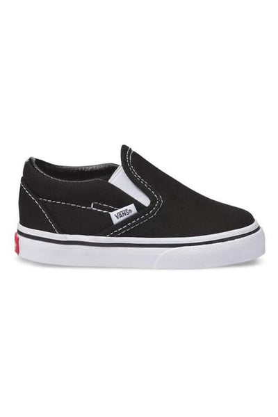 VANS FOOTWEAR VANS TODDLER SLIP ON - BLACK/WHITE