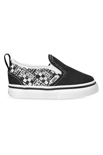 VANS FOOTWEAR VANS TODDLER SLIP ON VOW - BLACK/WHITE