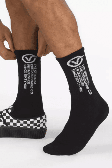 VANS SOCKS VANS DISTORTION CREW SOCKS - BLACK