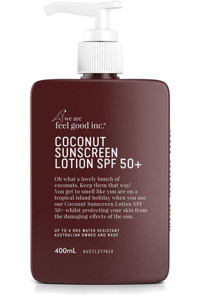 WE ARE FEEL GOOD INC. SKIN CARE WE ARE FEEL GOOD 400ML 'COCONUT SUNSCREEN' SPF 50+