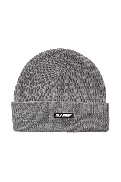 X-LARGE HAT ONE SIZE X-LARGE TEXT BEANIE - GREY