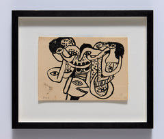Untitled Alan Davie framed drawing
