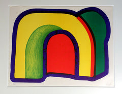 Arch Composition with Red Howard Hodgkin