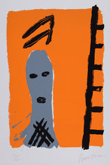 Bruce McLean man with ladder