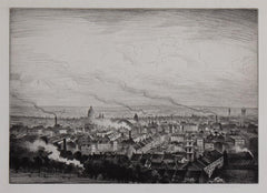 CRW Nevinson London from Parliament Hill