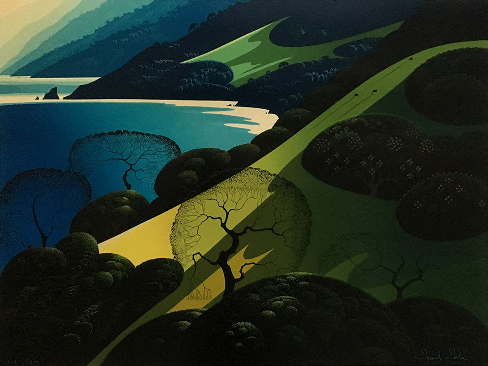 Eyvind Earle Above The Sea screenprint