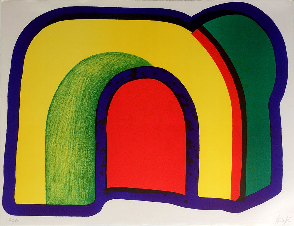 Howard Hodgkin Arch Composition with Red
