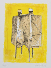 Lynn chadwick Two Winged Figures yellow