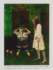 Peter Blake Alice in wonderland illustrations prints  tweedledum