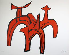 Alexander Calder Red Riders Red Horse