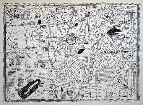 David Shrigley Map of Sculpture Project in Munster