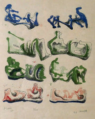Henry Moore eight reclining figures