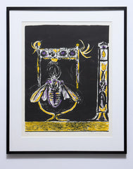 Insect Graham Sutherland  framed