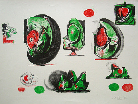 Graham Sutherland print, study of organic forms