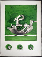 Graham Sutherland Swan Like Form Print