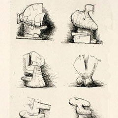 Henry Moore etching on paper