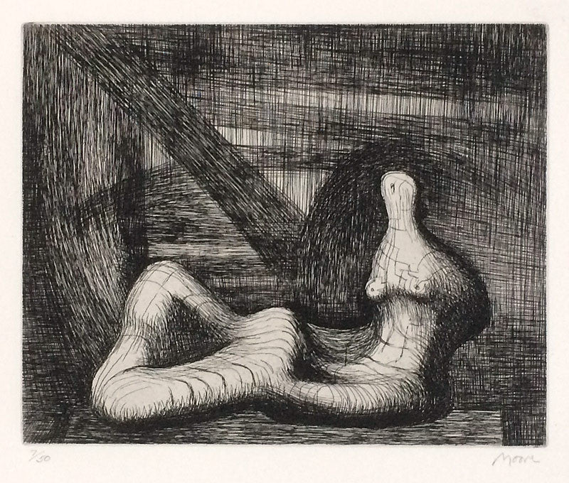 Henry Moore Reclining Fig Piranesi Background III