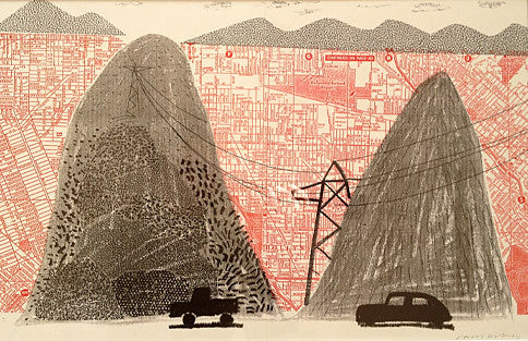 David Hockney Mullholland Drive print