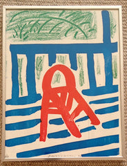 David Hockney The Red Chair for sale