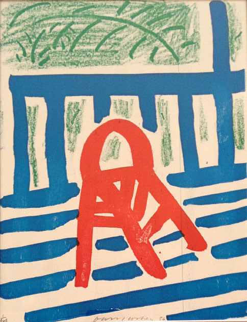 David Hockney The Red Chair 1986