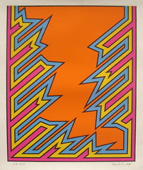 Nicholas Krushenick Pop Art print for sale, Bolt, 1979