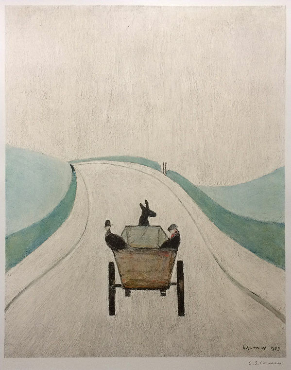 LS Lowry The Cart signed print