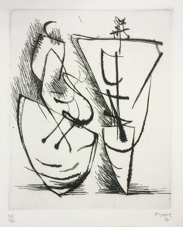 henry moore two standing figures XI