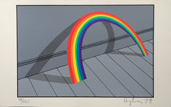 Patrick Hughes Rainbow leaning against wall