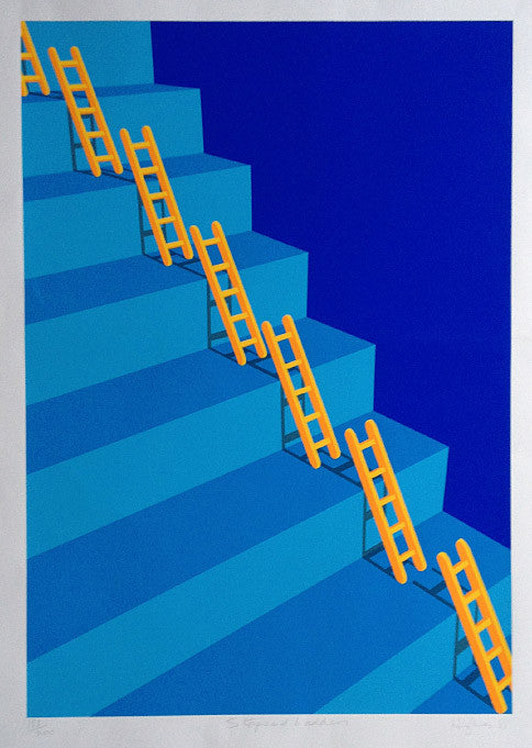 Patrick Hughes Steps and Ladders