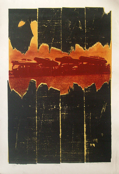 Michael Rothenstein print from Violence, Jags 1973