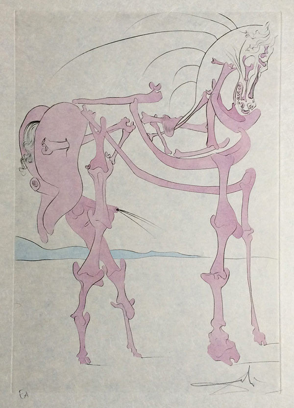 Salvador Dali Cheval En Rose 1973 Signed Print For Sale Modernprints Co Uk