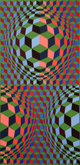 Victor Vasarely original signed print