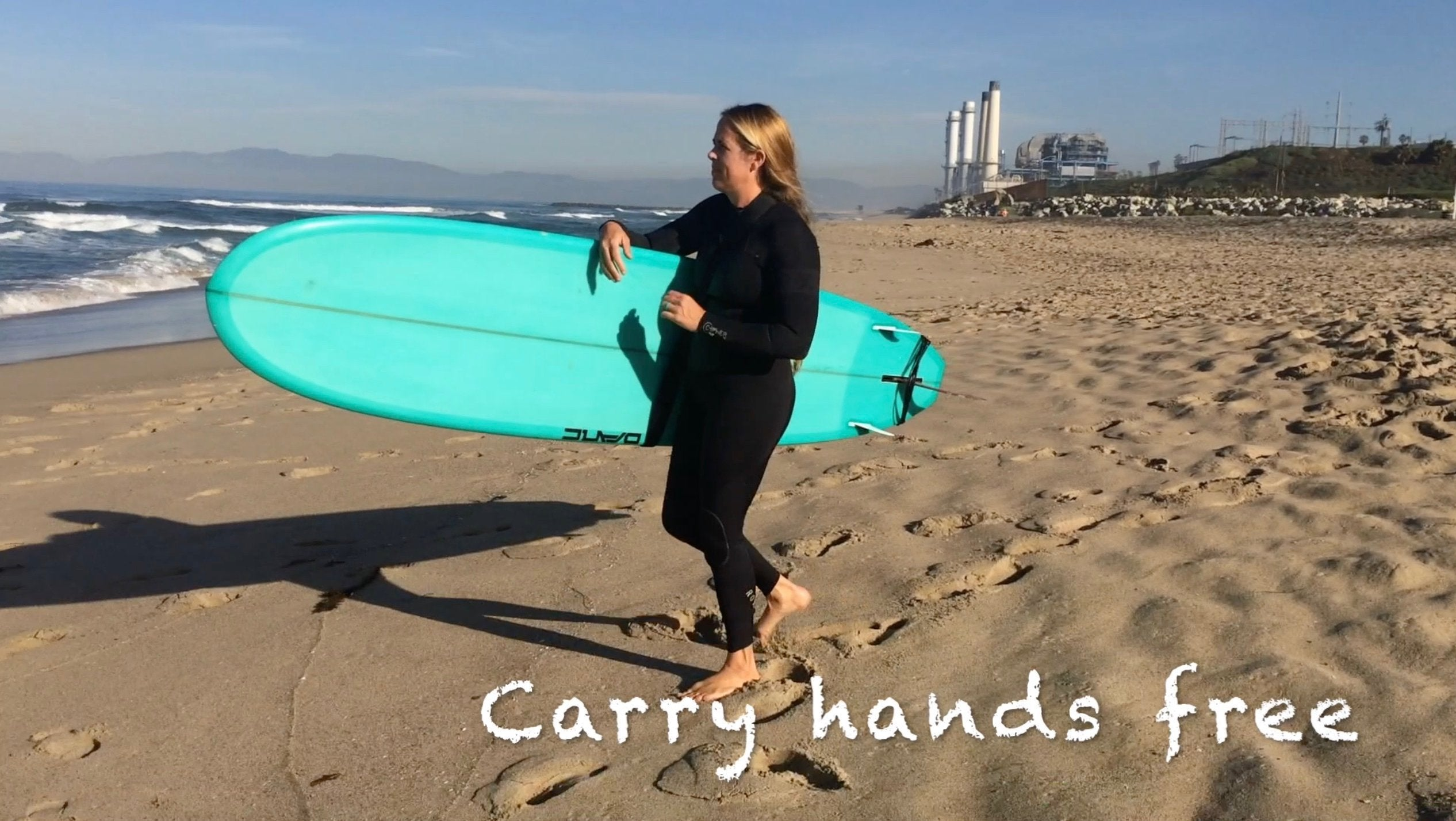 McSling4Surf is a hands free surfboard carry strap, surfboard carrier