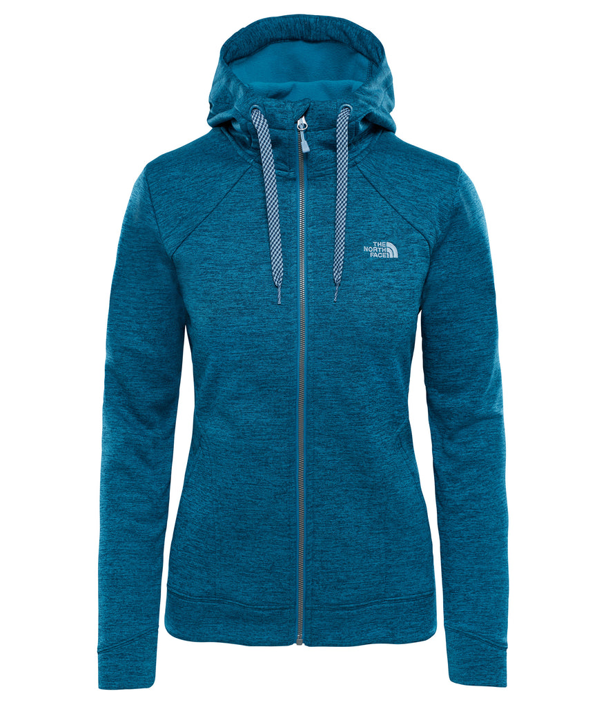 WOMEN'S KUTUM FULL ZIP HOODIE - BLUE CORAL HEAT