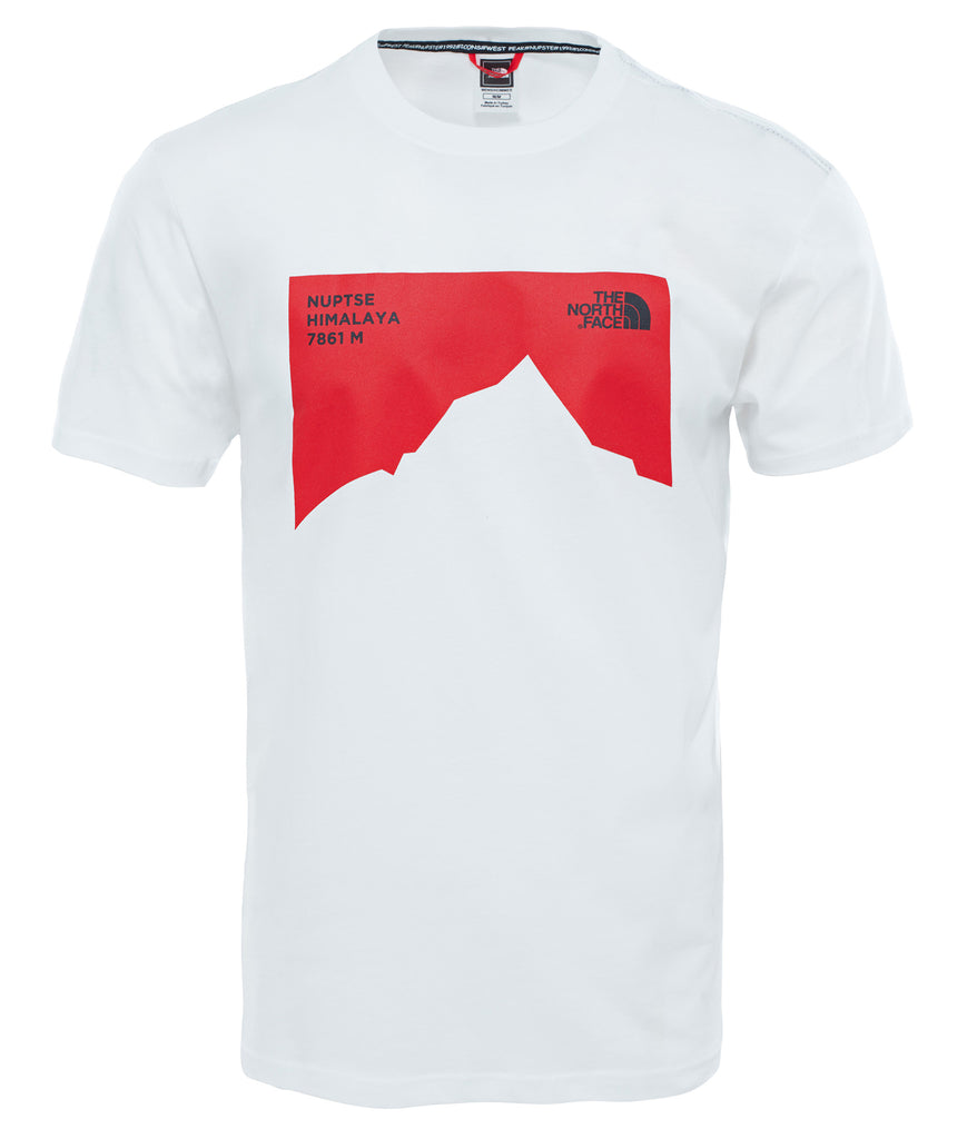 MEN'S S/S NUPSTE CEL TSHIRT - TNF WHITE
