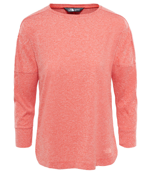 WOMEN'S INLUX 3/4 SLEEVE TOP - FIRE BRICK RED