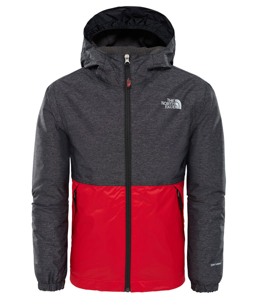 BOY'S WARM STORM JACKET - BLACK HEATHER (AGES 6-10)
