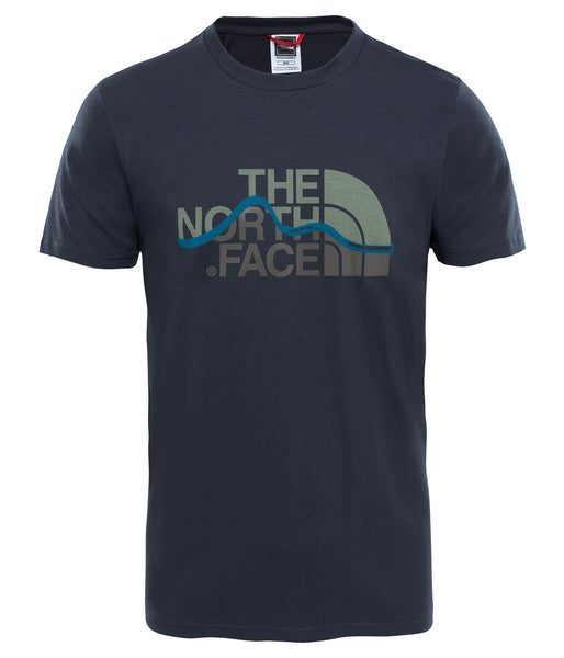 MEN'S SHORT SLEEVE MOUNTAIN LINE TEE - ASPHALT GREY