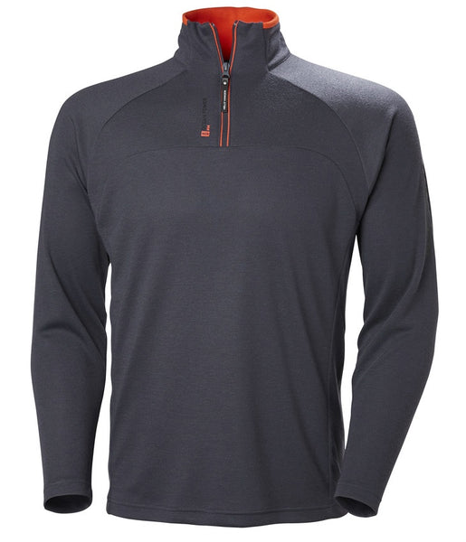 HP 1/2 ZIP PULLOVER - GRAPHITE BLUE