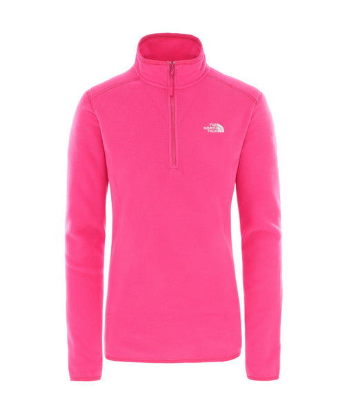 WOMEN'S 100 GLACIER 1/4 ZIP FLEECE - MR PINK