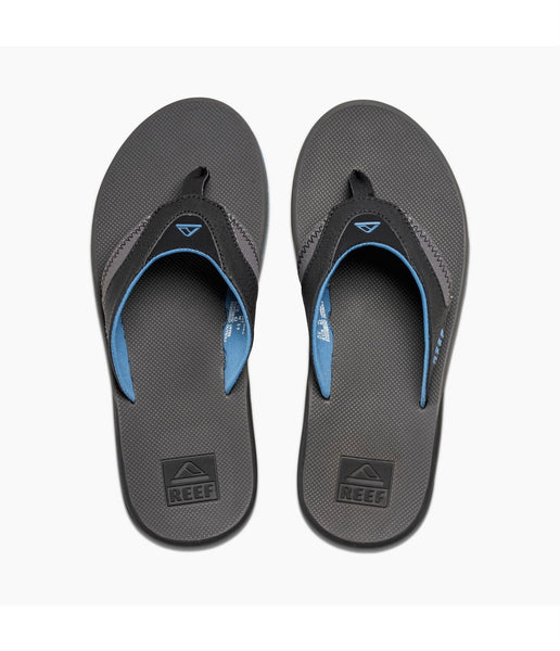 MEN'S FANNING FLIP FLOP - GREY/LIGHT BLUE
