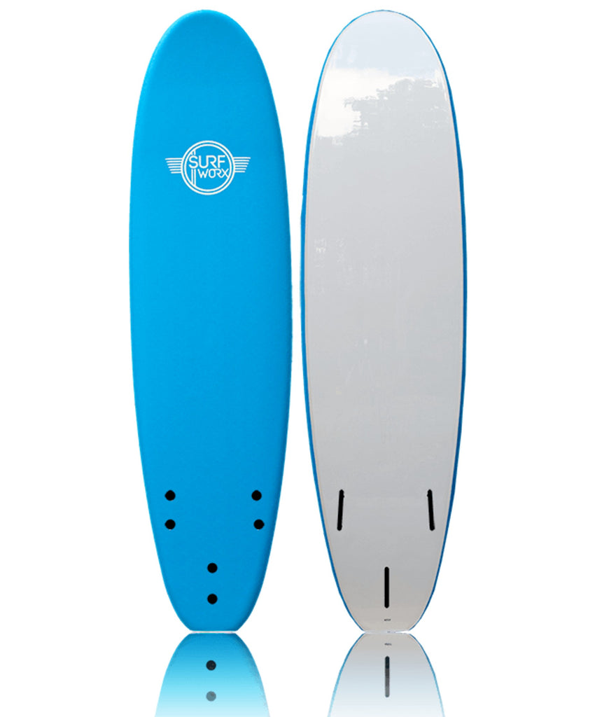 SURFWORX BASE MINI -MAL SOFTBOARD WITH LEASH - THREE GREAT SIZES