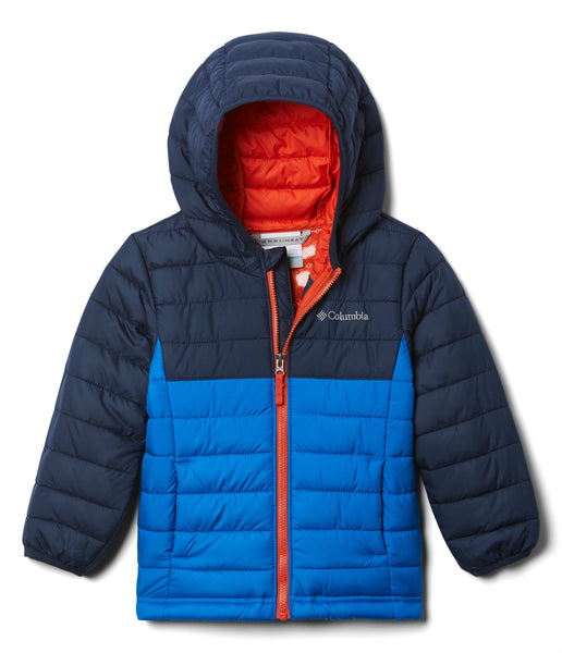 BOY'S POWDER LITE HOODED JACKET (AGES 10-18) - SUPER BLUE