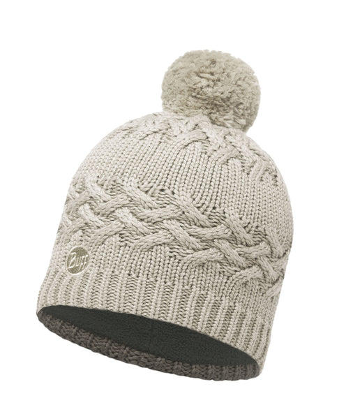 KNITTED & POLAR HAT BUFF SAVVA CREAM
