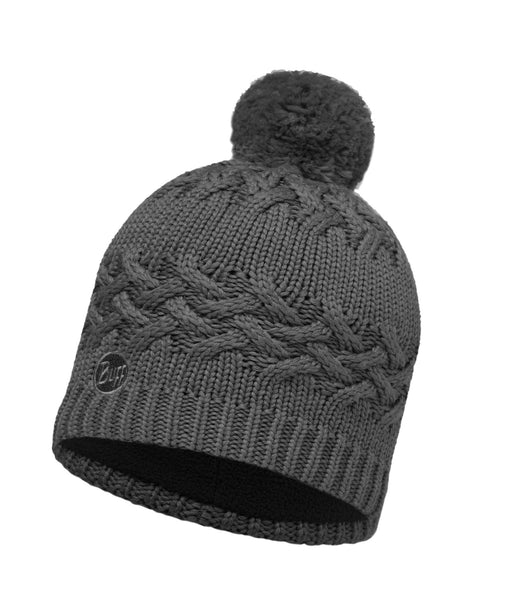 KNITTED & POLAR HAT BUFF SAVVA GREY CASTLEROCK