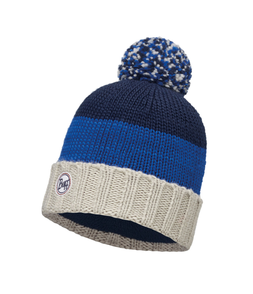 KNITTED & POLAR HAT BERNA - DARK NAVY
